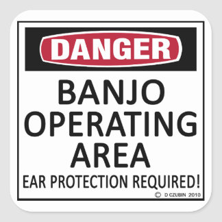 Banjo Operating Area Square Sticker