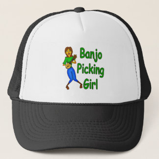 Banjo Picking Girl Trucker Hat