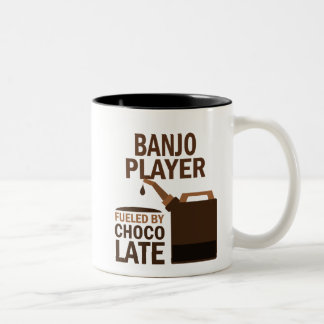 Banjo Player (Funny) Chocolate Two-Tone Coffee Mug