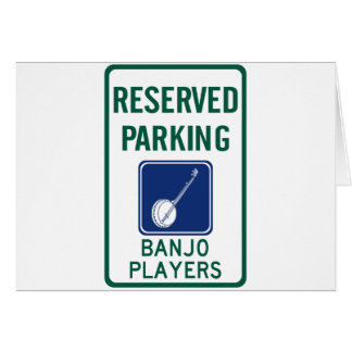 Banjo Players Parking Card