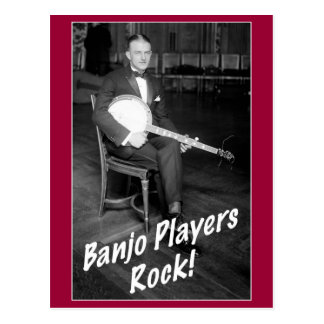 Banjo Players Rock Postcard