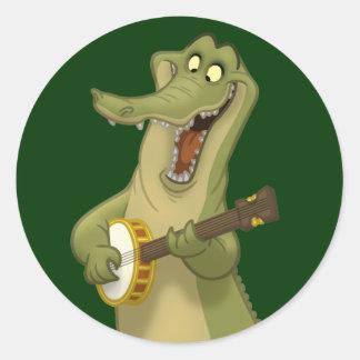 Banjo-Strummin' Gator Stickers