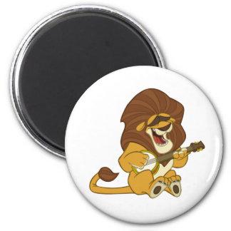 Banjo-Strummin' Lion Magnet