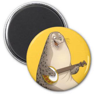 Banjo Strummin' Seal Magnet