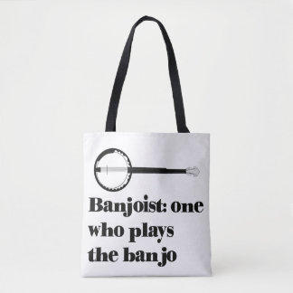"""Banjoist: one who plays the banjo"" Tote Bag"