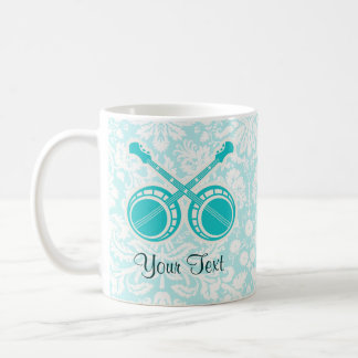Banjos de duel turquoises mug à café