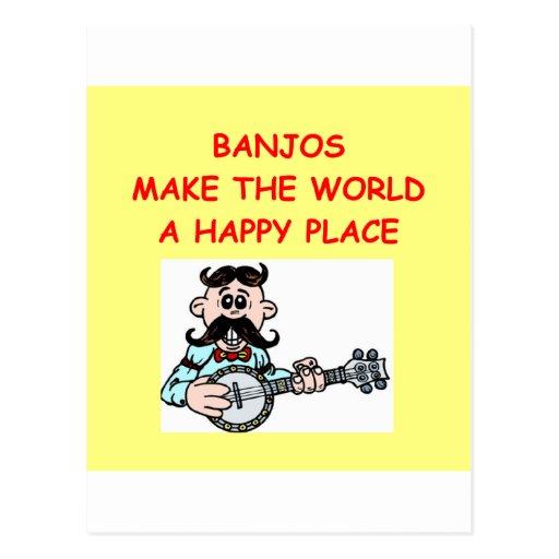 banjos postcards