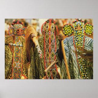 Banjouge dancers, Cameroon Poster