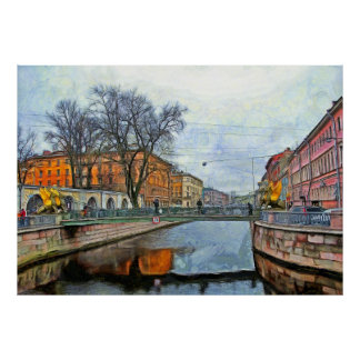 Bank Bridge on the Griboyedov Canal Poster