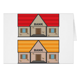 Bank Building Card
