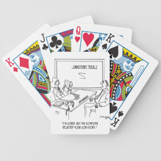Bank Cartoon 1348 Bicycle Playing Cards