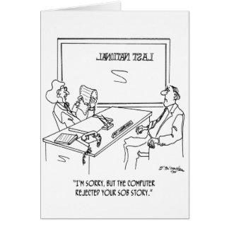 Bank Cartoon 1348 Card