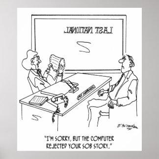 Bank Cartoon 1348 Poster