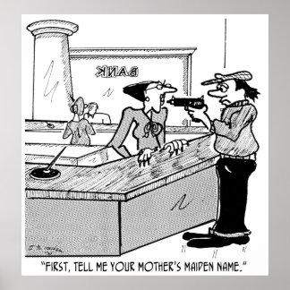 Bank Cartoon 2922 Poster