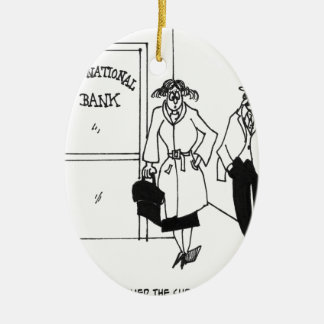 Bank Cartoon 3328 Ceramic Ornament