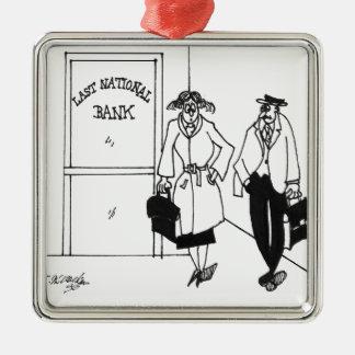 Bank Cartoon 3328 Metal Ornament
