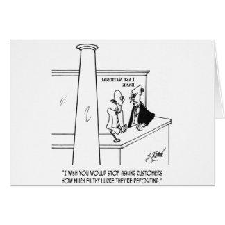 Bank Cartoon 3635 Card