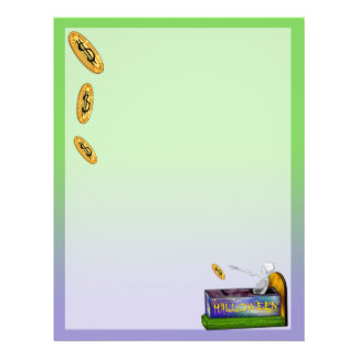 BANK HALLOWEEN LETTER HEAD Recycled Customized Letterhead