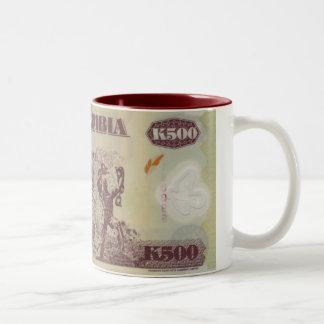 Bank note of Zambia Two-Tone Coffee Mug