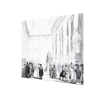 Bank of England, Great Hall, from Ackermann's Gallery Wrap Canvas