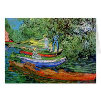 Bank of Oise Auvers Van Gogh Fine Art Card