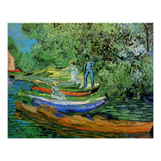 Bank of the Oise at Auvers by Vincent van Gogh Poster
