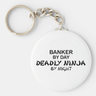 Banker Deadly Ninja by Night Keychain