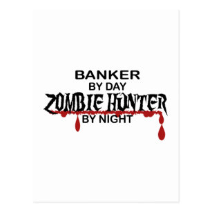 Banker Zombie Hunter Postcard