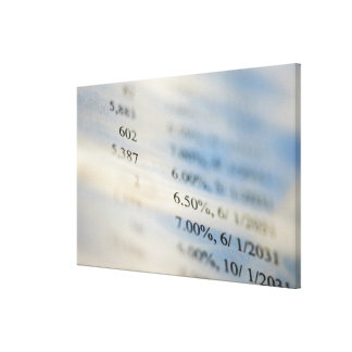 Banking statements stretched canvas print