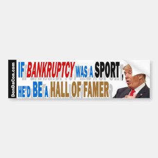 Bankruptcy Bumper Sticker