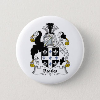 Banks Family Crest 2 Inch Round Button