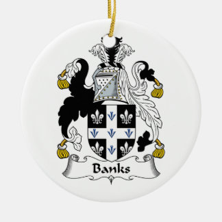 Banks Family Crest Ceramic Ornament