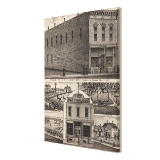 Banks Hardware, Russell Bank, Kansas Canvas Print