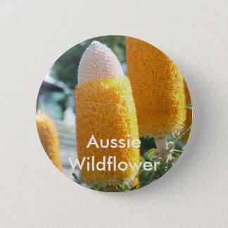 """Banksia """"Golden Candlesticks"""" 2 Inch Round Button"""