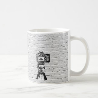 Banksy style graffiti mug