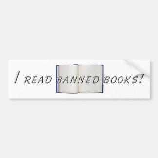 Banned Books Car Bumper Sticker