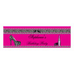 Banner Birthday Hot Pink Lipstick Zebra Leopard Print