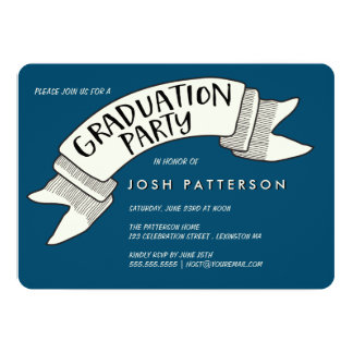 Banner Celebration Graduation Party Invitation