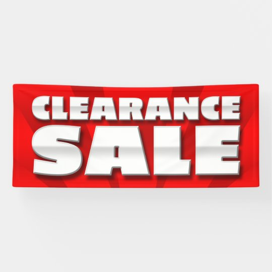 BANNER CLEARANCE SALE  - 2.5'x6'