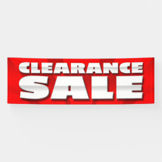 BANNER CLEARANCE SALE  - 2.5'x8'