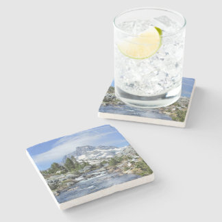 Banner Peak from Thousand Island - Sierra Nevada Stone Coaster