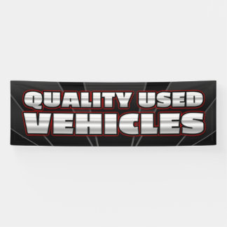 BANNER QUALITY USED VEHICLES  - 2.5'x8'