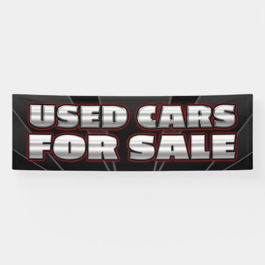 BANNER USED CARS FOR SALE  - 2.5'x8'