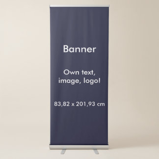 Banner Vertical Retractable uni Dark Blue