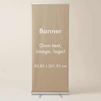 Banner Vertical Retractable uni Gold