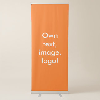 Banner Vertical Retractable uni Orange