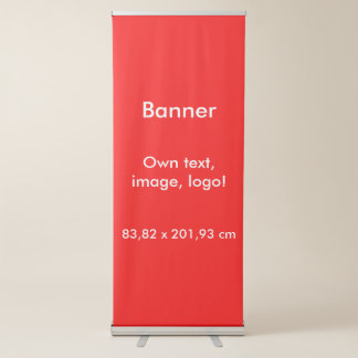 Banner Vertical Retractable uni Red