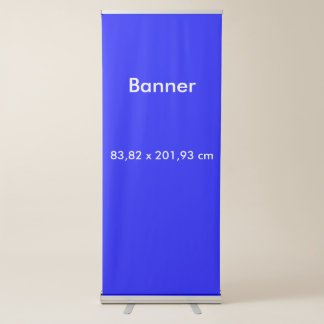 Banner Vertical Retractable uni Royal Blue