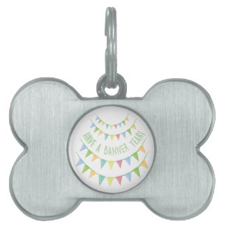 Banner Year Pet Tag
