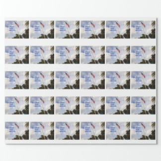 BANNER YET WAVE AMERICAN FLAG WRAPPING PAPER